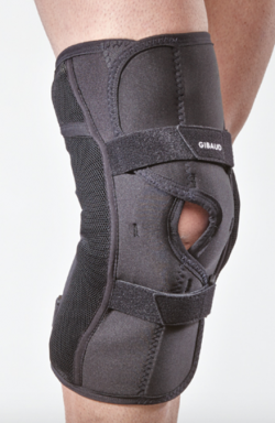 Gibaud 'open' knee brace