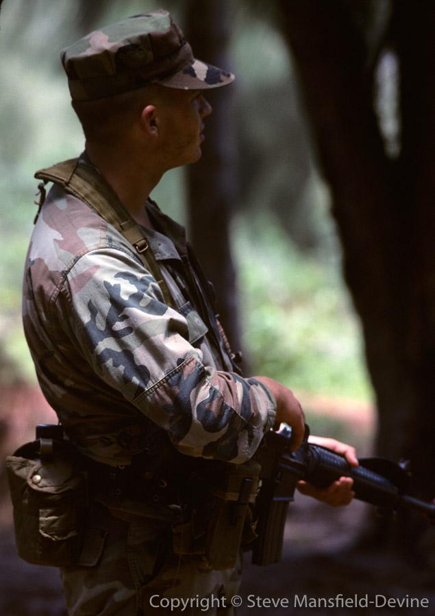 Combat training, Kahuku Training Area, Oahu