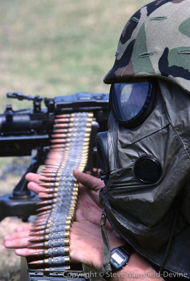 M60 machine gun qualifications, MOPP gas mask