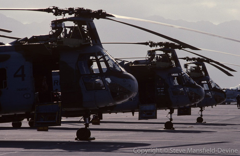 CH-46 Sea Knight helicopters