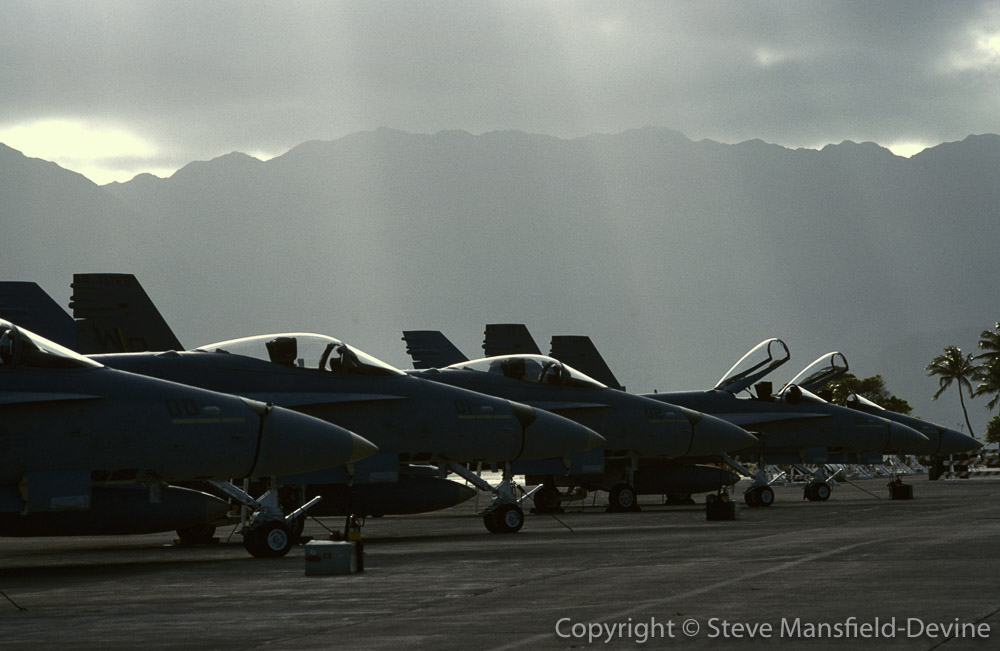 F/A-18C Hornet fighter/attack aircraft on ramp