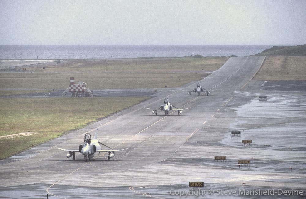RF-4C Phantom II reconnaissance aircraft taxiing